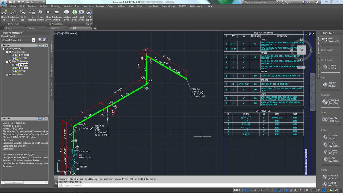 Autocad plant 3d fabrieksontwerp en 3d installatie for Plante 3d dwg